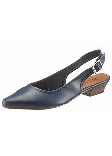City Walk Faux Leather Slingback Court Shoes