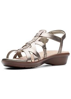 baf52c4dd897 Clarks Loomis Katey Multi Strap Sandals