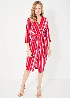 38c0ed86ae0 Closet Stripe Wrap Dress