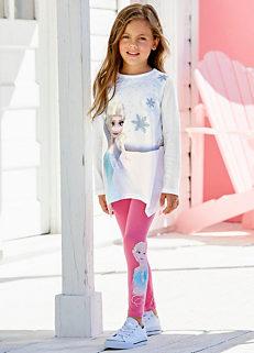 6dbebd3fe0c75 Disney Kids Frozen Elsa Top & Leggings Set