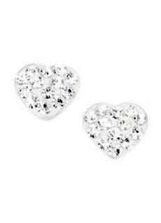 605f8f4ef Firetti Sterling Silver 'Heart' Swarovski® Crystals Earrings