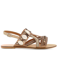 5f34e591224 Jewelled Leather Sandals