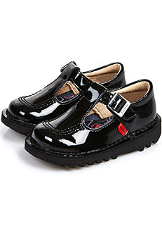 0a5b532e5 Kickers Infants  Kick T  Patent T-Bar Shoes
