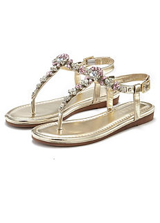 c4c1a1687 Shop for Metallic | Sandals & Flip Flops | Womens Footwear ...