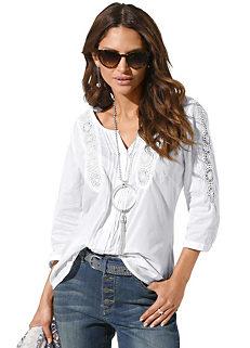 f399fa7c14b1c Lace Detail Cotton Blouse