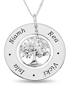 02aefa3b666 Personalised Sterling Silver Family Tree Pendant