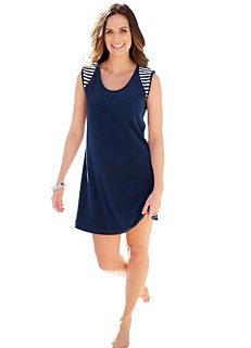 130a62b70e Plantier Nautical Look Sleeveless Dress
