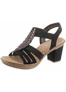 58ea3f7c5 Rieker Rhinestone Heeled Sandals