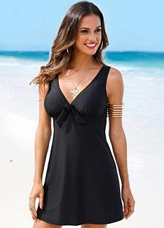d226d52e96 Tie Front Swim Dress