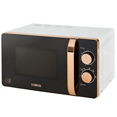 Tower 20l Manual Microwave T24020w White