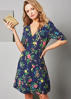 50d3325a2a0 Warehouse Verity Floral Wrap Dress