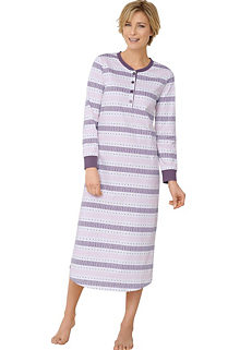 bccbdb6e976 Pack of 2 Short Sleeved Nightdresses. £38.00. Waschepur Long Sleeve Printed  Nightdress