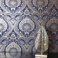 Shop For Blue Wallpaper House Garden Online At Freemans