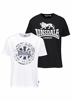 Lonsdale londres Jacob Stretch t-shirt Black negro