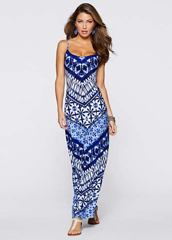 8698e40febd Tile Print Maxi Dress by BODYFLIRT boutique