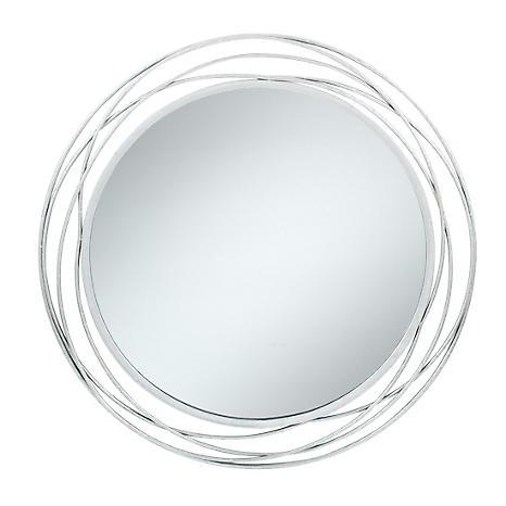 Antique Silver Metal Round Wall Mirror, Round Silver Wall Mirror Metal