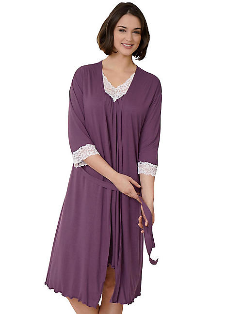 Creation L Emotion Lace Trim Dressing Gown  e9767e653