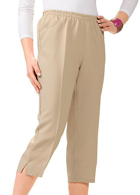 0d40b58646b24b Elasticated Capri Trousers by Witt