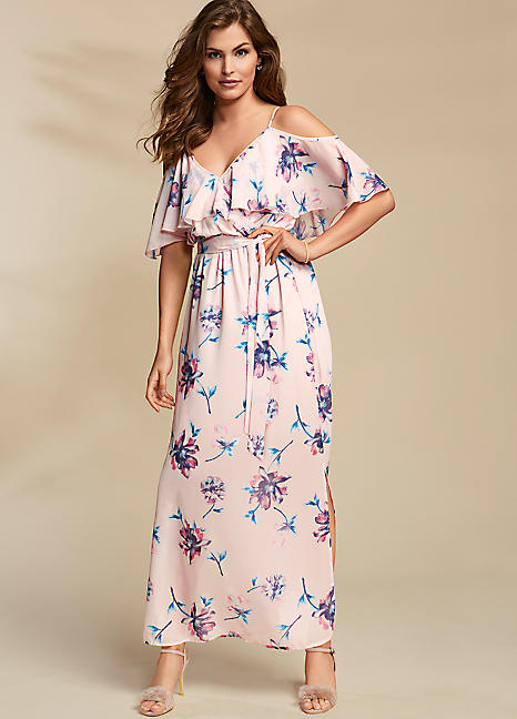 49fcc6f817880 Floral Print Chiffon Maxi Dress