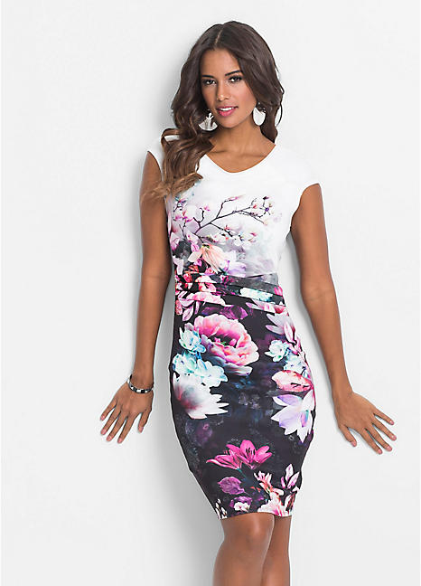 ce5c90c8d956 Floral Print Shift Dress by BODYFLIRT boutique