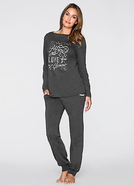e916bf7e61b27 Glitter Print Pyjamas