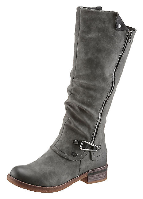 fashion style low price sale the latest Rieker Faux Leather Winter Boots