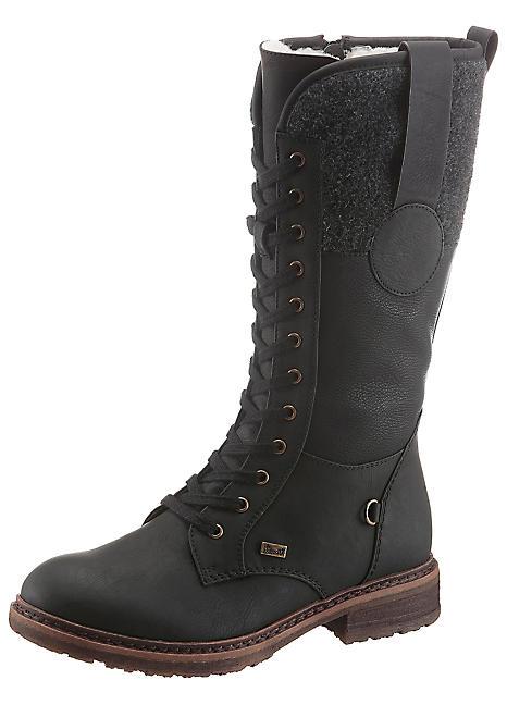 Rieker Lace Front Mid Calf Boots   Freemans
