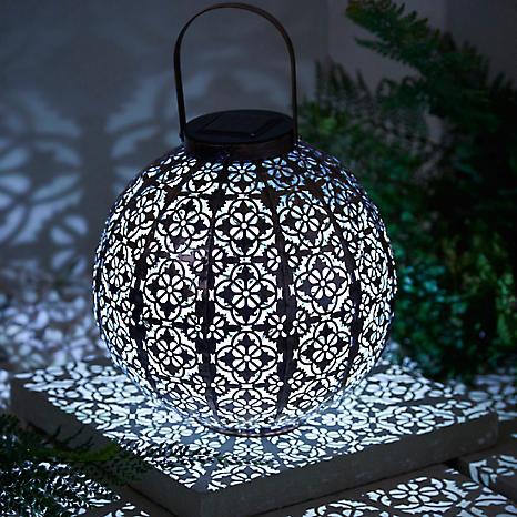 solar powered damasque solar lantern - Solar Powered Lanterns