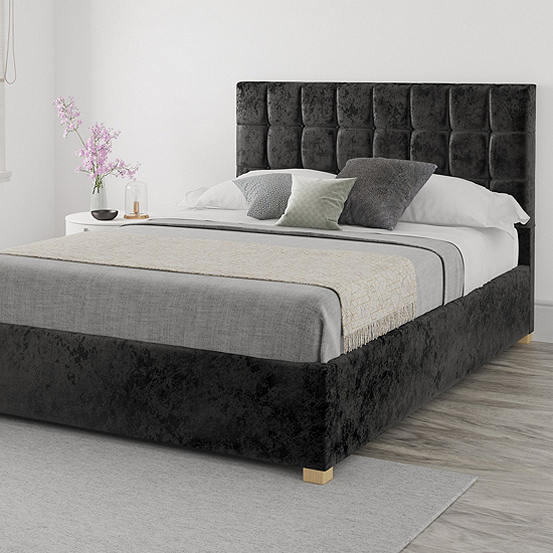 Fantastic Aspire Hampton Velvet End Lift Ottoman Storage Bed Gmtry Best Dining Table And Chair Ideas Images Gmtryco