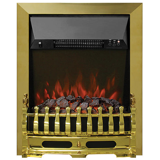 Be Modern Bayden Classic Inset Brass Remote Control Electric Fire