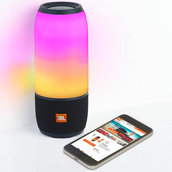 jbl pulse wireless bluetooth speaker with led lights black