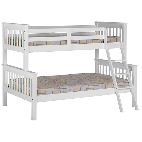 Neptune White Wooden Triple Sleeper Bunk Bed Freemans
