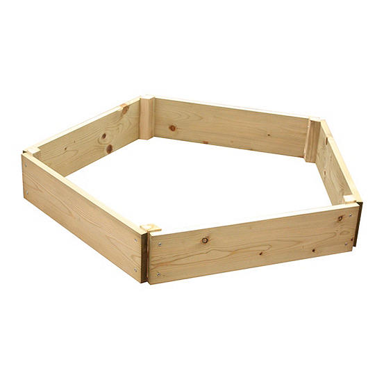 Pressure Treated Timber Five Sided Raised Planting Bed - 60 cm Sides