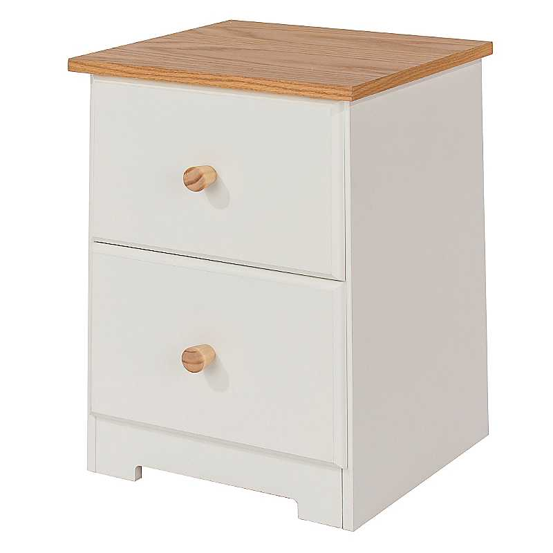 Colorado 2 Drawer Petite Bedside Cabinet
