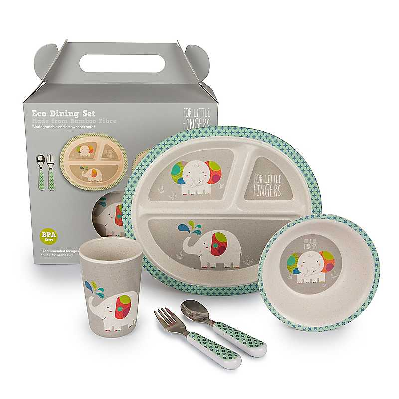 For Little Fingers Elephant Dinner Set