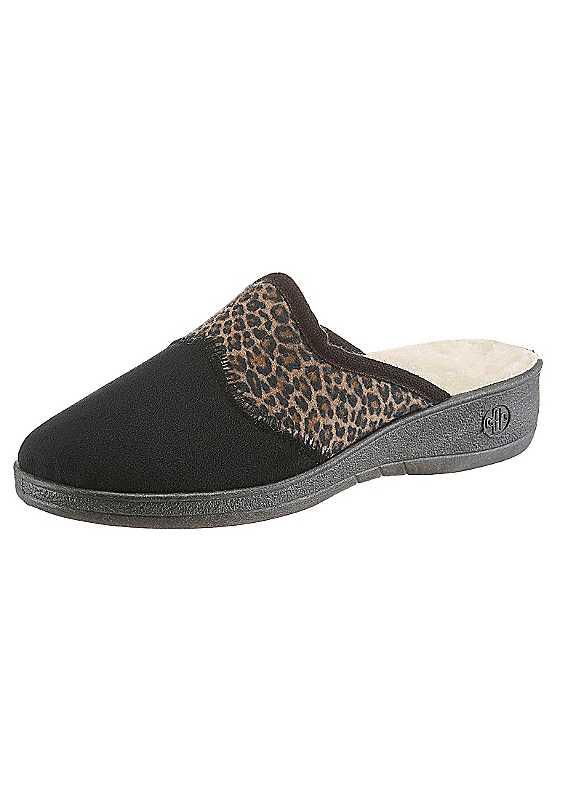 Landgraf Leopard Print Slippers