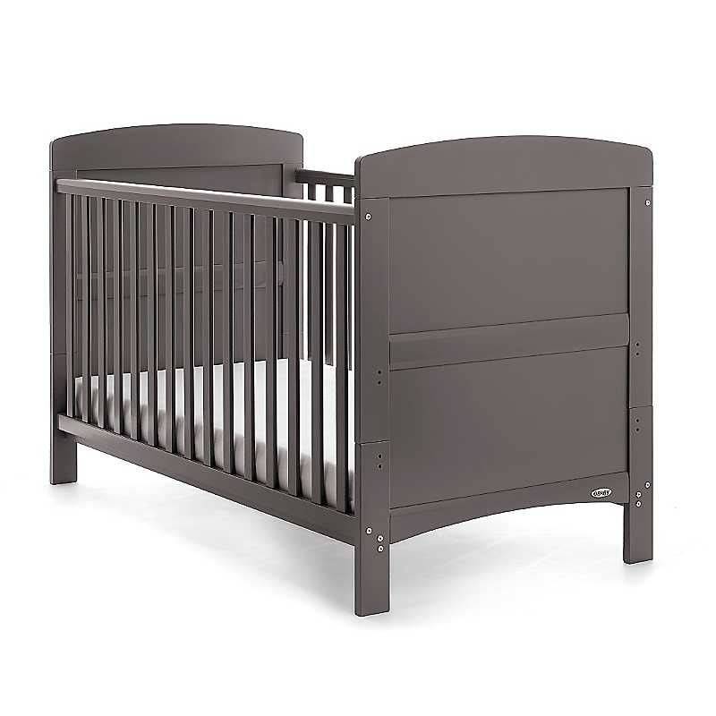 Obaby Taupe Grey Grace Cot Bed