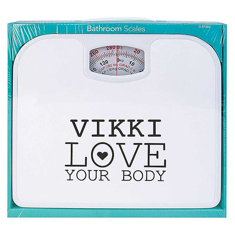 Personalised 'Love Your Body' Bathroom Scales