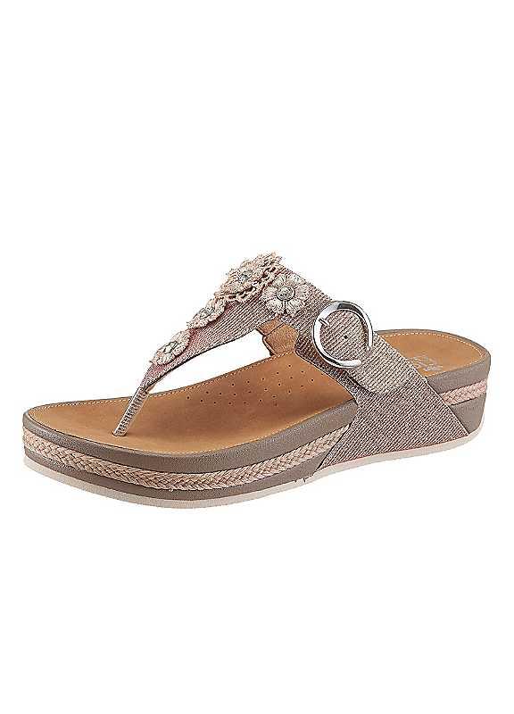 Rieker Glittery Toe-Post Sandals