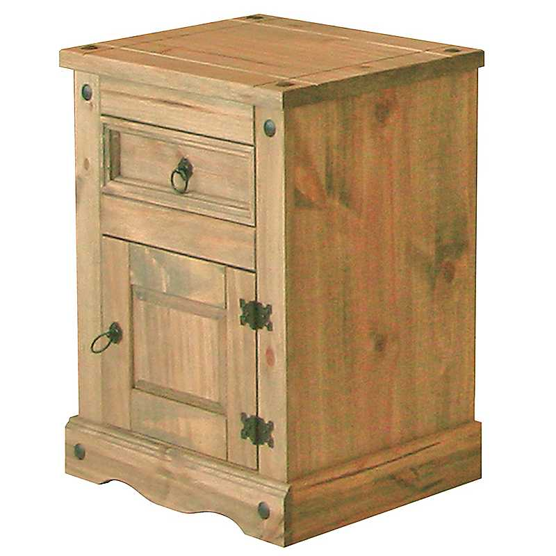 Sierra 1 Door/1 Drawer Bedside Cabinet